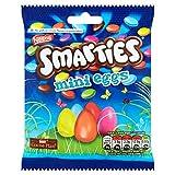Nestle Smarties Mini Chocolate Eggs Bag, 90 g, Pack of 12