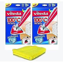 Siluk_Vileda 100°C «Hot Spray» Housse de rechange pour nettoyeur vapeur