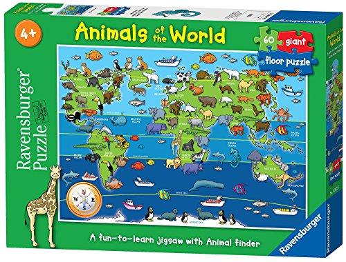 Ravensburger 07072 - Animali del mondo, Puzzle 60 pezzi Giant