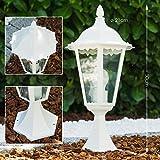 Lampe extérieure de style classique de couleur blanche - Luminaire extérieur idéal pour éclairer chemin et terasse - Lampe de jardin au design classique