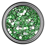 4MM - 500 Pieces : Light Green Resin Rhinestones in 2mm 3mm 4mm 5mm 6mm for Flatback Nail Art Cabochon Diy Decoration and Craft (4MM - 500 Pieces)