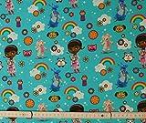 50 cm Baumwolljersey Jersey Disney Doc McStuffins blau