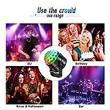 AOMEES Discokugel Party Disco Licht Musik Lichteffekt LED mit USB für Kinder Geburtstag Xmas Halloween Feier Party Favor Geschenk Spielzeug Zubehör Camping Dj Tanzen Bühne Karaoke Beleuchtung Deko - 4