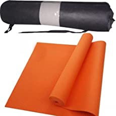 Generic Yoga Mat with Bag, 6mm (Orange)