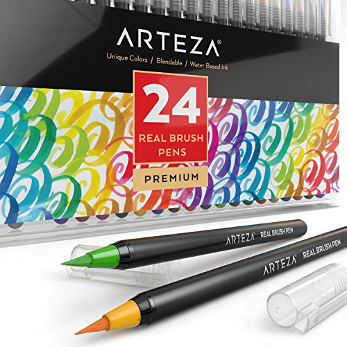 arteza-veritable-brosse-24-colors-stylos-encre-a-base-deau-lot-de-24