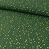 Baumwollstoff Weihnachtssterne grün Stern - Preis Gilt