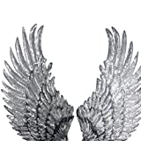 1 Pair Embroidered iron on patches for clothes Wings design sequins Motif Applique by Sdetter