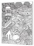pintcolor 7163.0Lienzo Impreso de colorear, madera de abeto/algodón, blanco/negro, 40x 50cm