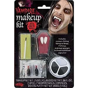 Fun World Kit de maquillage vampire Dents incluses