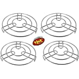 VPSK Heavy Stainless Steel Heat Resistant Stand Hot Pan/Pot Stand Mat Pack of 4 (Medium)