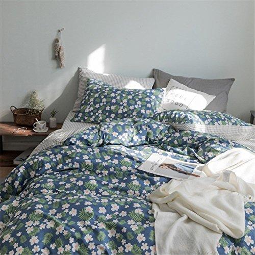 DACHUI Baumwolle Bettwäsche Set im Frühjahr und Sommer kleine frische Stil atmungsaktiv Heimtextilien Bettwaren Colletion, auf dem Land
