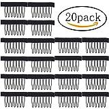 20pcs Wig Combs, Sicai Wig Combs Steel Tooth Comb for Wig Caps Lace Cap