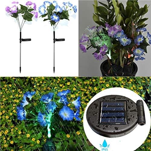 Solarleuchte Garten für Außen,Solar Cherry Lilie Blumen Garten Lampen Rasenlicht 8 Kopf Solarlicht Straßenlaterne 16 LED Außen Dekoration Lichter für Garten, Terrasse, Backyard,Feld (2PC)