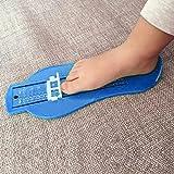 Infant Foot Measure Gauge,Zibuyu Kid Shoes Size Measuring Ruler Tool (Blue)