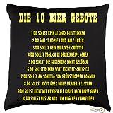 getshirts - RAHMENLOS® Geschenke - Kissen - Bier - Die 10 Gebote - Dunkelgrau uni