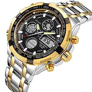 Herren-Digital-Analog-Luxus-Full-Stahl-wasserdicht-Uhren-fr-Mnner-LED-Stecker-Outdoor-Sport-Militr-Armbanduhr-Silber-Gold-Schwarz
