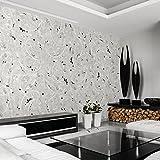 murando - PURO TAPETE - Realistische Tapete ohne Rapport und Versatz- Kein sich wiederholendes Muster - 10m Vlies Tapetenrolle - Wandtapete - modern design - Fototapete - Diamant Ornament f-A-0195-j-a