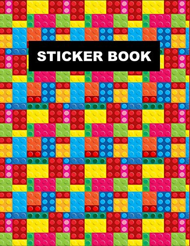 Sticker Book The Unofficial Lego Blocks Sticker Book For Boys Kids Teens Non Reusable Large Blank Notebook