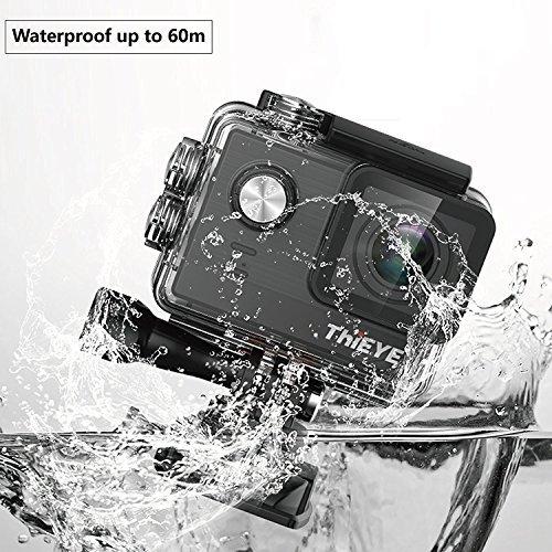 """Thieye T5e 4K Action Kamera WIFI Sport Action Cam 16MP Foto Ultra HD 2,0""""LCD Display 170° Weitwinkel 60m Wasserdicht 360 Grad drehbare Buckle Helmkamera Wasserdicht für Motorrad Fahrrad Reiten und Zubehör Kits mit 2 Verbesserten Batterien - 2"""