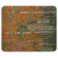 Klimt - Birch Forest, Pelle Mouse Pad Tappetino per Mouse Mouse Mat con Immagine Colorato Antiscivolo in Gomma di Base Ideale per Giocare.