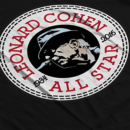 Leonard Cohen Converse All Star Icon Men's T-Shirt Black