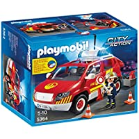 Playmobil 5364 Fire Master Vehicle with Light and Sound Construction