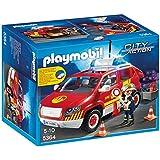 Playmobil Bomberos - Coche jefe con luces y sonidos, playset (5364)