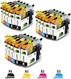 JARBO Compatible Ink Cartridges Replacement for LC123 XL (6 Black,3 Cyan,3 Magenta,3 Yellow) Compatible with MFC-J245 MFC-J470DW MFC-J650DW MFC-J870DW MFC-J4410DW MFC-J4510DW MFC-J4610DW MFC-J4710DW MFC-J6520DW MFC-J6920DW DCP-J132W DCP-J172W DCP-J752DW DCP-J4110DW