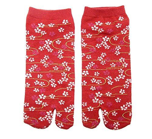 Tabi Socken 'kawaiidesu' Japanische Split 2-toe Ninja Flip Flop Geta Sandale Knöchel Socken Senior