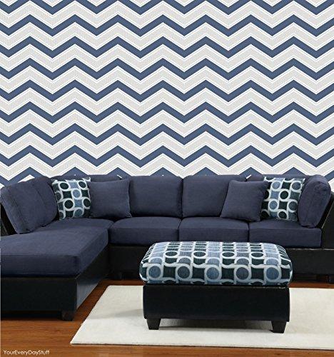 coloroll-wallcoverings-blown-vinyl-wallpaper-chevron-m1149-navy-blue-full-roll
