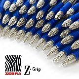 z-grip penna a sfera a scatto–Confezione risparmio da 40–blu