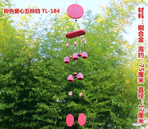 Abra BAGEHAN Lucky cobre decoración puerta colgando el Wind Chimes Yunnan Lijiang Feng Shui Town House espíritus Shop Bell antirrobo,N