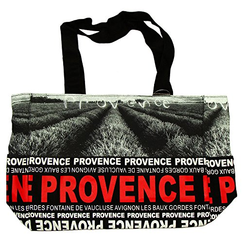 Robin Ruth - Sac Shopping Provence 'Photo' 38 x 30cm - Noir, Rouge