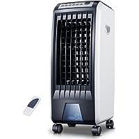 SL&LFJ 4 Fan De roulettes Roues Climatisation,Ventilateur Télécommande Climatisation Petit Mobile Home Silencieux Cooler Humidification Vertical Refroidisseur D'air De Refroidissement