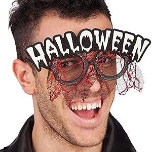 Carnaval 06927 - Gafas con Halloween Escrito y cordón blanco en Grueso