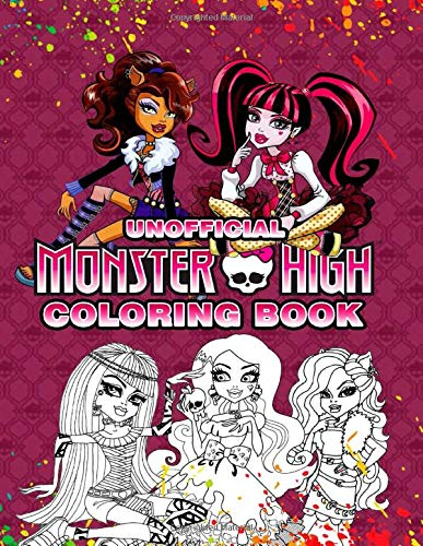 Monster High Coloring Book: Great Coloring Book For Kids (Unofficial Coloring Book)