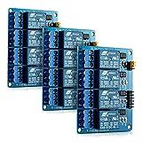 kwmobile 3X 4 Kanal Relais Modul mit 5V für Arduino