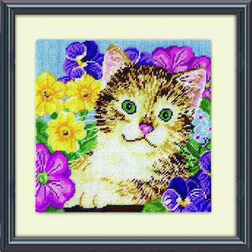 Design Works Katze in Blumen Tapisserie Kit -