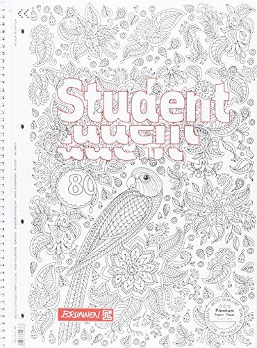 Brunnen Collegeblock Student Zenart, A4, liniert