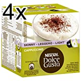 Nescafé Dolce Gusto Cappuccino light, 4er Pack, 4 x 16 Kapseln (32 Portionen)