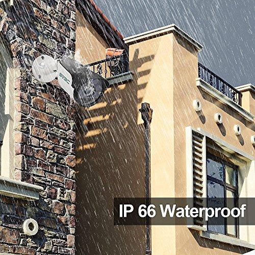 SV3C 1080P PoE IP Kamera/HD Sicherheitskamera für Außen/IP Überwachungskamera/IP cam mit LAN & PoE 802.3af für Outdoor - 5