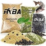 RYBA - Exquisites Räucherset - Räuchermehl 500g, Wacholderbeeren 100g, Räucherlauge 500g (Paket-Forelle)