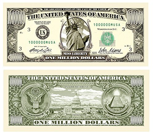 Set of 50 - Traditional Million Dollar Bill by American Art Classics