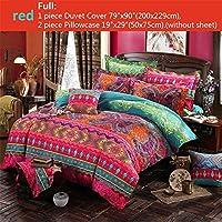 Parure de lit Double Luxe Ethnique de Style Ethnique bohème Extra Large 4 Grande Housse de Couette taie d'oreiller
