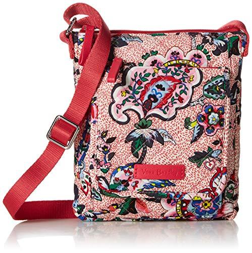 Vera Bradley Damen Iconic RFID Mini Hipster, Signature Cotton Geldbörse, Stitched Flower, Einheitsgröße