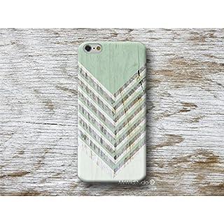 grün chevron holz print Marmor Handy Hülle Handyhülle für HTC U11 10 M9 M8 A9 desire 626 Sony Xperia XZ1 Z5 Z3 compact