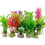 AchidistviQ 10 PCS Kunststoff Künstliche Gras Aquarium Simulation Pflanze Aquarium Ornaments Multi