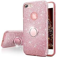 Funda iPhone 6S Plus, Funda iPhone 6 Plus, Miss Arts Carcasa Brillante Brillo con soporte, cubierta exterior de TPU suave + armazón interior de PC duro para Apple iPhone 6S / 6 Plus -Rose Oro