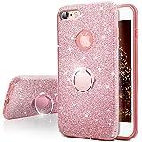 Miss Arts Cover iPhone 6S Plus, Cover iPhone 6 Plus, Custodia Glitter di in Morbido TPU con Interno in Policarbonato, Supporto Rotazione a 360 Gradi per Apple iPhone 6S / 6 Plus -Oro Rosa