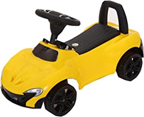 GoodLuck Baybee Kids Ride on Push Car Toy with Music, 1-2 years (Yellow)